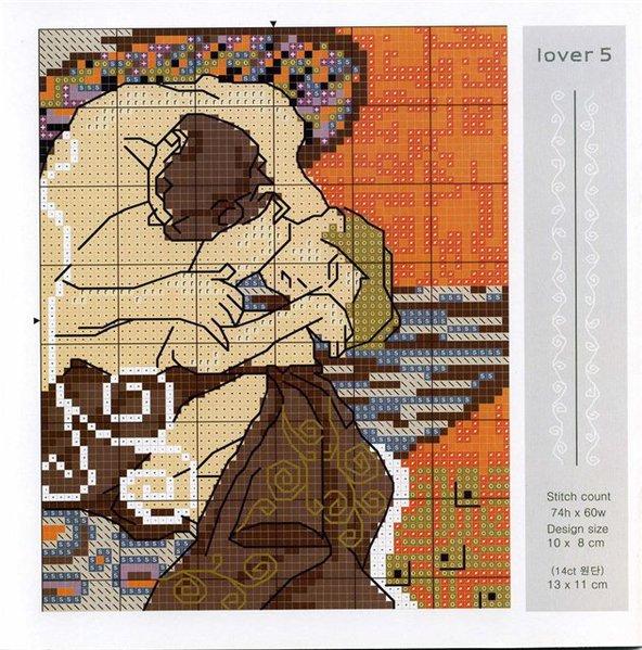 Вышивка схема крестом густав климт