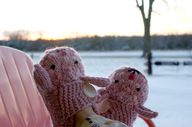 gift for easter: knitted baby booties