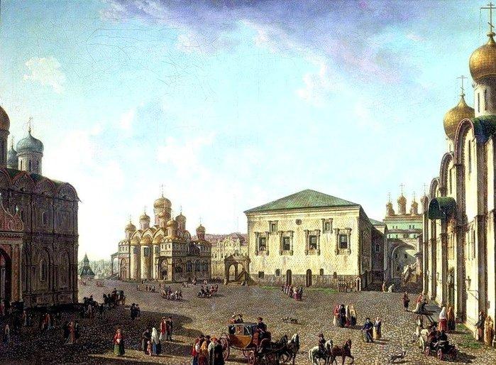 Благовещенский собор и Грановитая палата 1800 (700x514, 103Kb)
