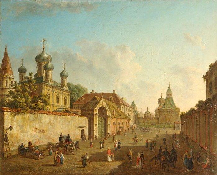Вид от Лубянки на Владимирские ворота (700x565, 78Kb)