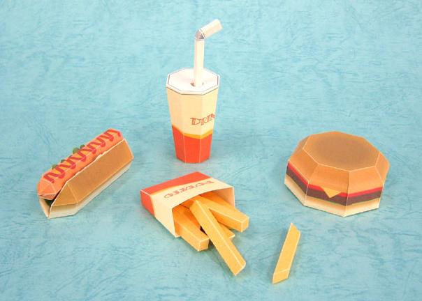 еда из бумаги (604x432, 483Kb)