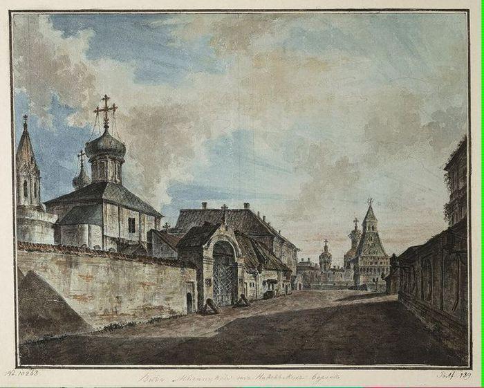 Вид от Лубянcкой площади на Владимирские ворота (700x561, 84Kb)