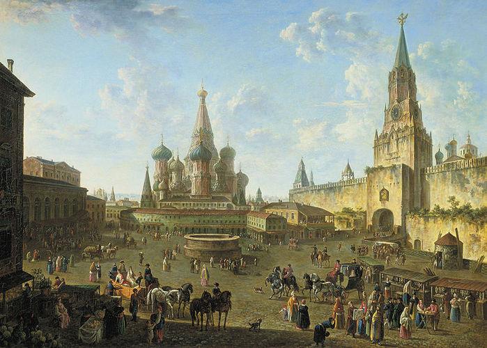 Красная площадь в Москве(1801) масло (700x500, 101Kb)