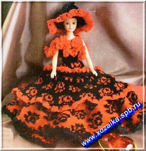Схема вязания одежды барби