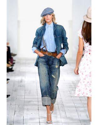 ...детали именно в джинсовый стиль.  Джинсы шагают в ногу со временем.