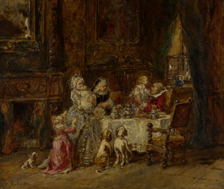 2010239_Louis-Gabriel-Eugene_Isabey-_'Grandfather's_Birthday_1866_National_Gallery_London (439x371, 72Kb)