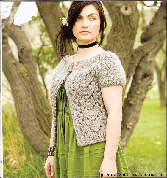 Вязанье толстой пряжей модели