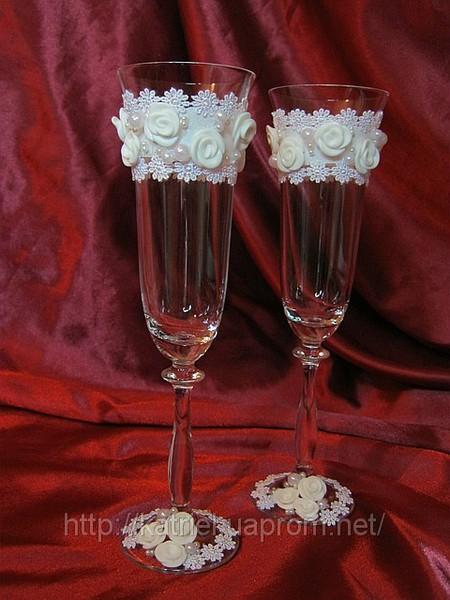 """Фужеры для жениха и невесты  """"Бэатриса """", фото 1."""