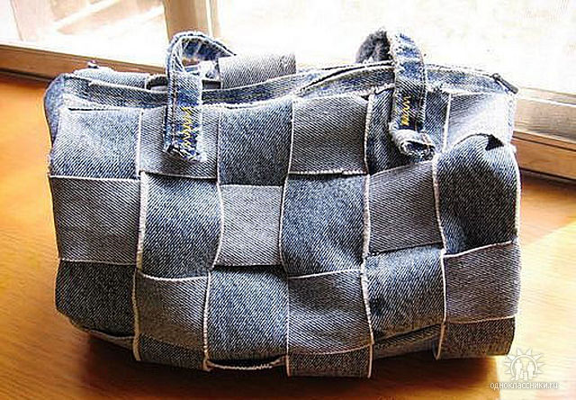 Мастер - класс по шитью сумки из старых джинсов.