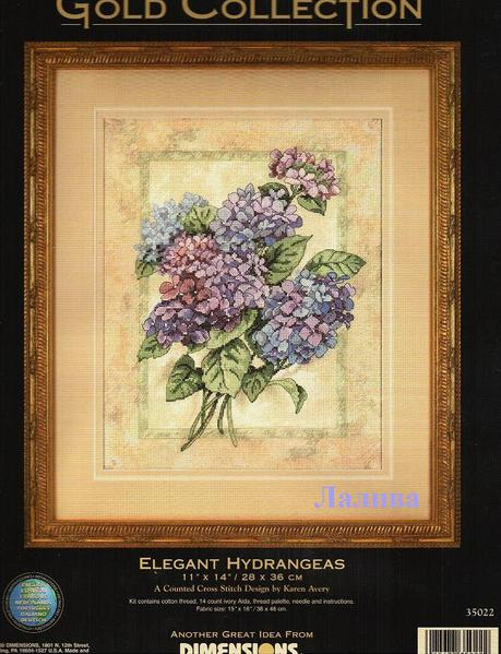 35022 Elegant Hydrangeas (459x600, 56Kb)