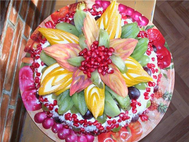 Детский торт из фруктов своими руками