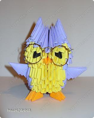 Модульное оригами - Сова и