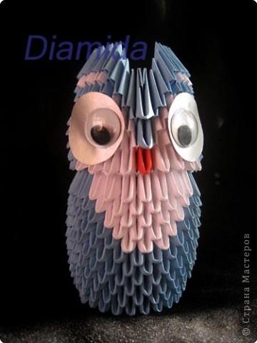 Модульное оригами сова схемы оригами.