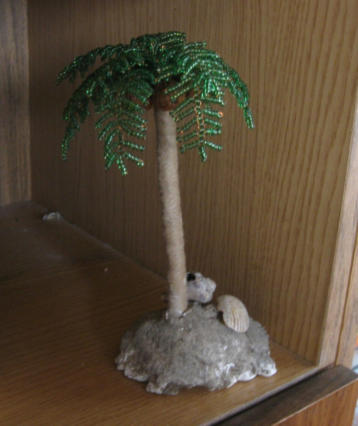 пальма из бисера мастер класс схема - Сайт о бисере.