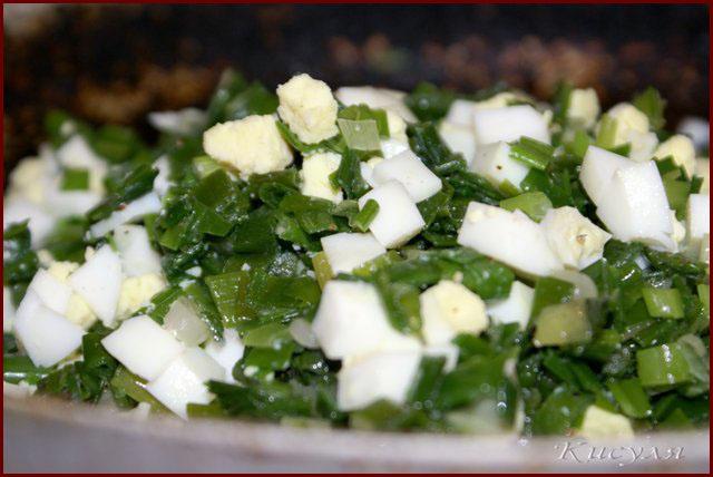 Быстрый заливной пирог с зеленым луком в духовке рецепт с ...