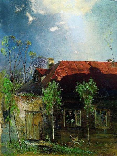 Домик в провинции весна 1878 448x600 144kb
