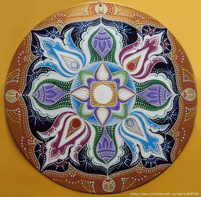 мандала Тибет акрил Shraddha 1 (700x687, 474Kb)