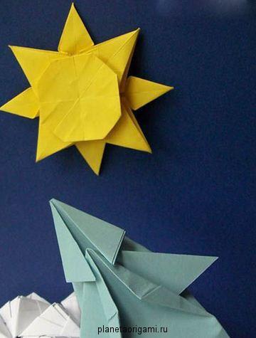 Оригами из бумаги планеты