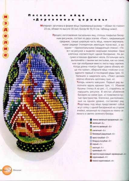 Схемы пасхальных яиц из бисера