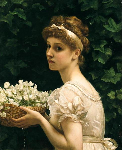 Edward Poynter - Pea Blossoms (491x600, 87Kb)