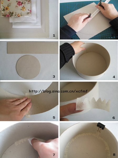 Как сделать круглую шкатулку из
