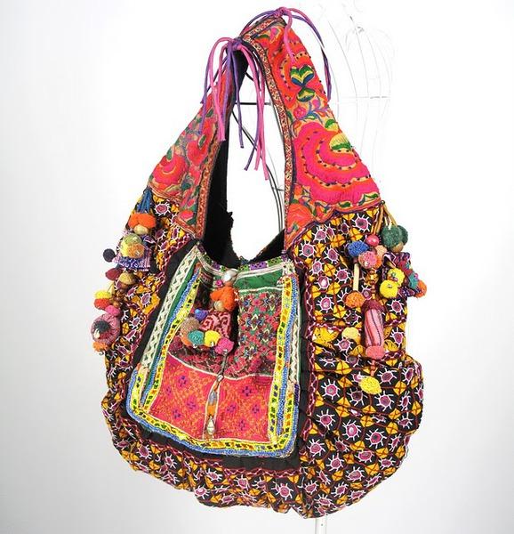 Beautiful Vivid Hippie Boho Vintage Fabric Bag 2 (578x600, 120Kb)