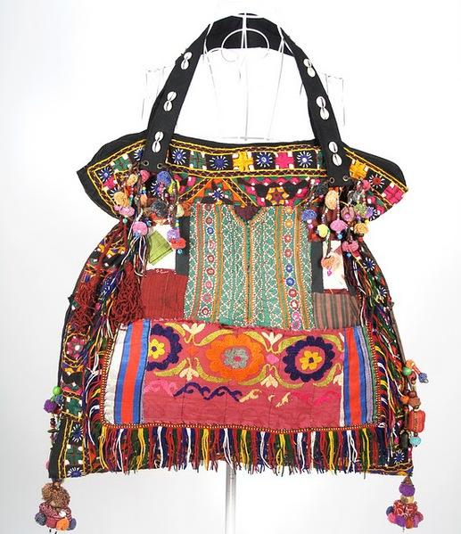 Bright Color HIppie Boho Vintage Fabric Bag 1 (517x600, 122Kb)