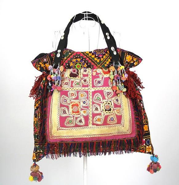 Bright Color Oversize Hippie Boho Vintage Fabric Bag 1 (582x600, 115Kb)