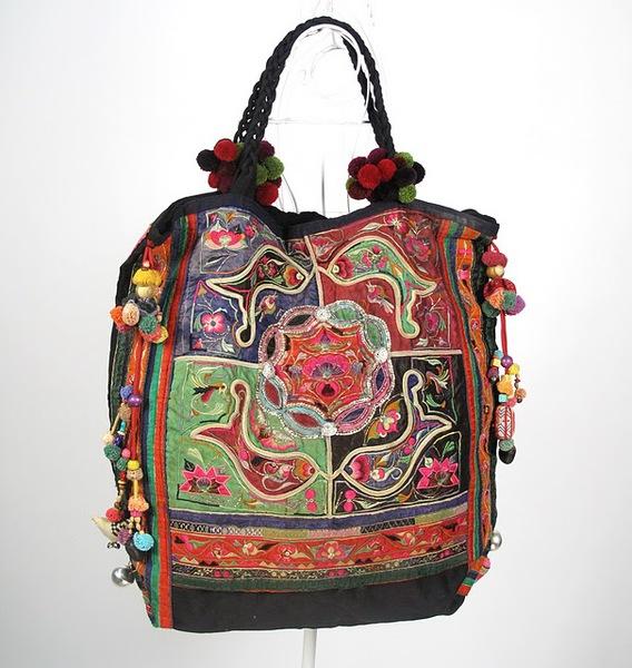 Oversize Vintage Hippie Boho Tribal Textiel Bag 1 (568x600, 107Kb)