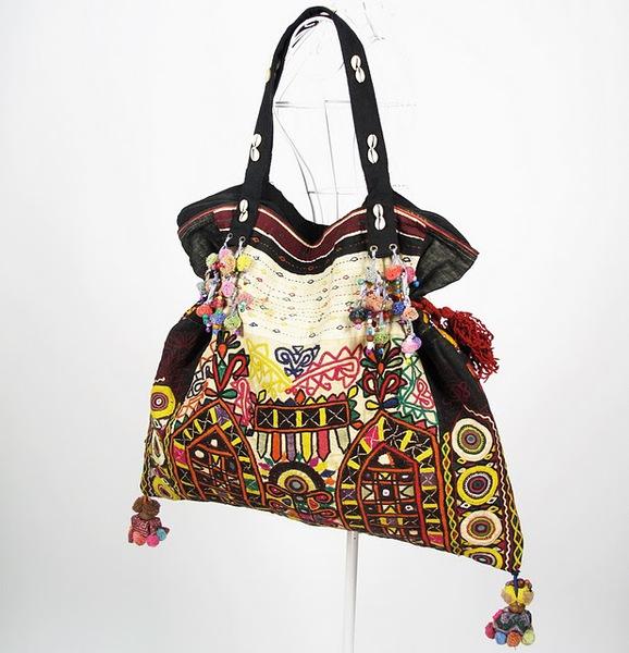 Tribal Vintage Fabric Hippie Boho Bag 1 (578x600, 92Kb)