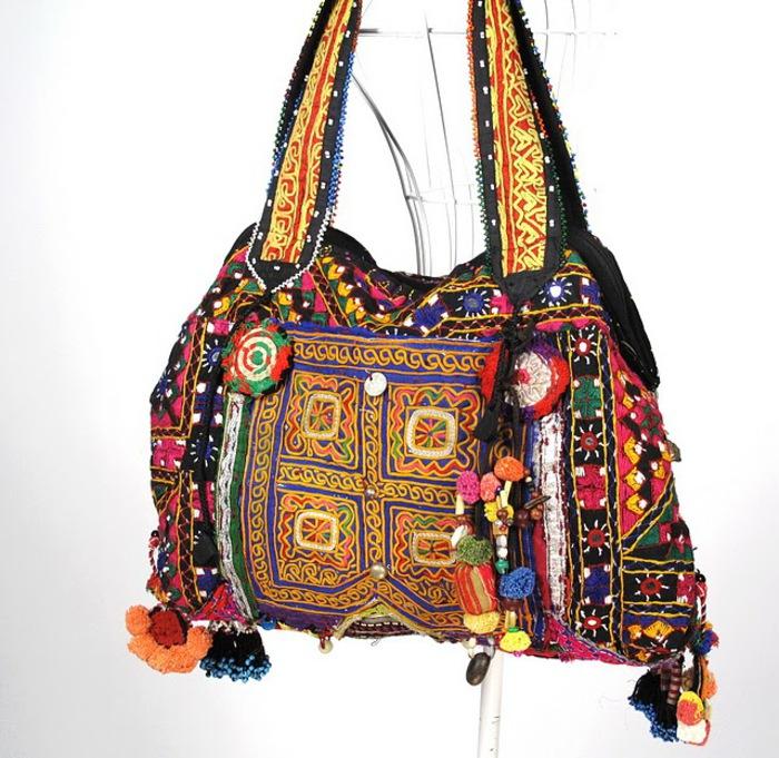 Tribal Vintage Fabric Hippie Boho Bag 3 (700x681, 158Kb)