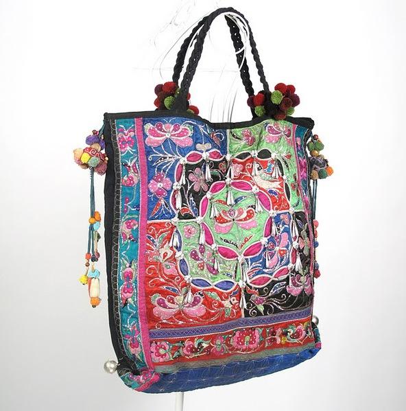 Tribal Vintage Fabric Women Boho Bag 2 (592x600, 113Kb)