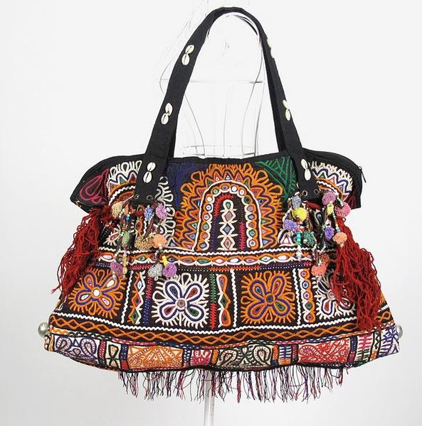 Tribal Vintage Fabric Women Shoulder Bag 1 (593x600, 131Kb)