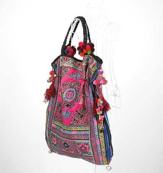 Tribal Vintage Textile Oversize Hippie Boho Bag 4 (566x600, 80Kb)