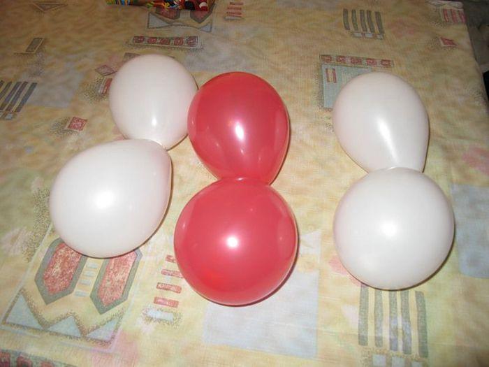 Как сделать из шаров цифры своими руками