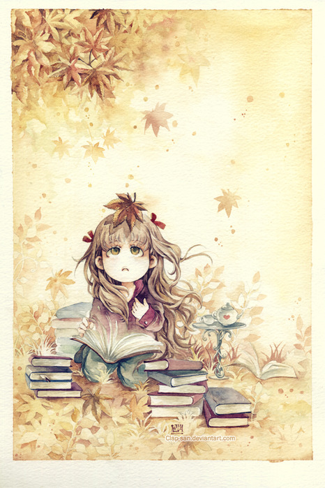 Autumn_Reading_by_Clap_san (466x700, 135Kb)