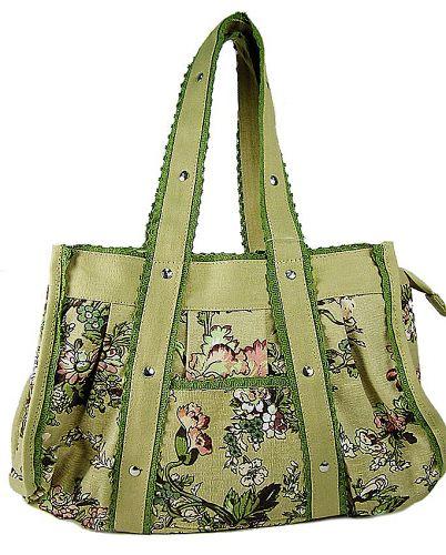 PH-4162 Rose.  Пляжная сумка Collage из текстиля.  На бежевом фоне...