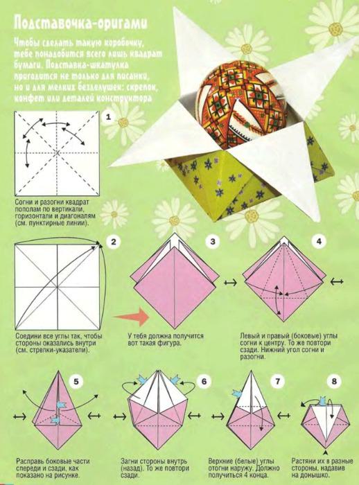 Как сделать из бумаги пасху