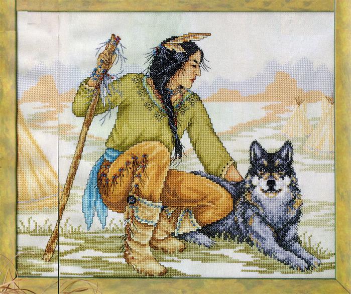 Схемы вышивки крестом индейцев