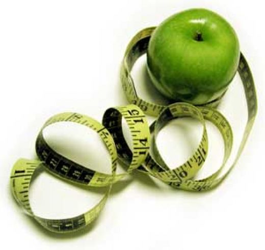 яблоко и сантиметр (520x491, 29Kb)