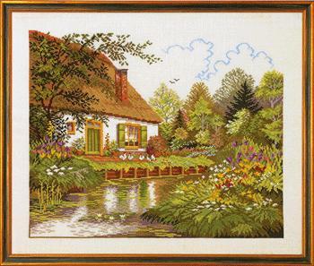 ER 14-184 House and woodland lake (350x297, 28Kb)