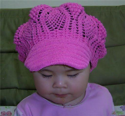схема вязания детской шапки спицами.