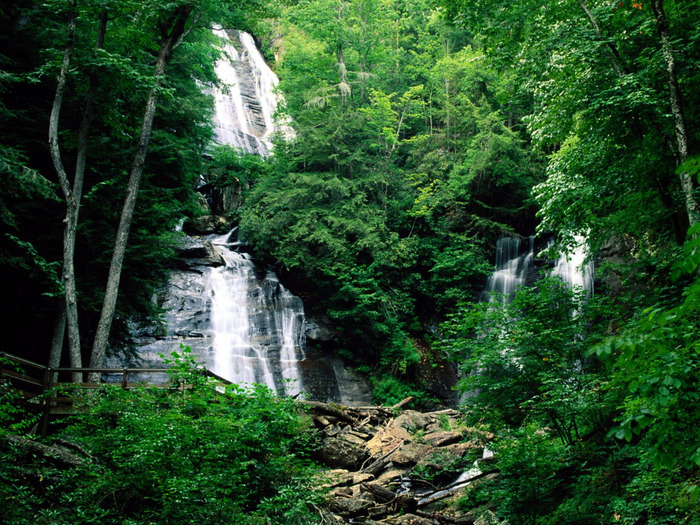 Anna Ruby Falls, Chattahoochee National Forest,  (700x525, 247Kb)