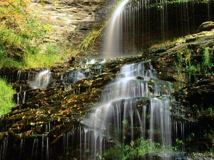 Cathedral Falls, West Virginia - 1600x1200 - ID  (700x525, 229Kb)