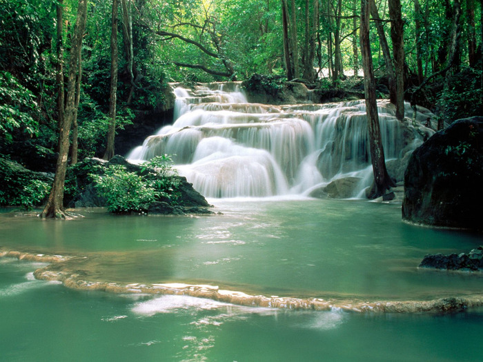 Kao Pun Temple Waterfalls, Kanchanaburi Region,  (700x525, 173Kb)
