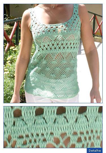 Описание: вязание крючком топики и майки туники.