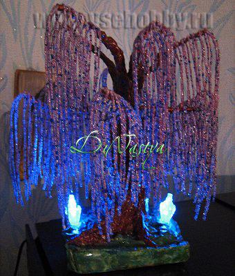 Хьюго Пьюго рукоделие, http://idi-k-nam.ru/rubric/2831298/, как сплести дерево счастья из бисера, мастер класс по плетению дерева счастья из бисера, схема плетния дерева из бисера,