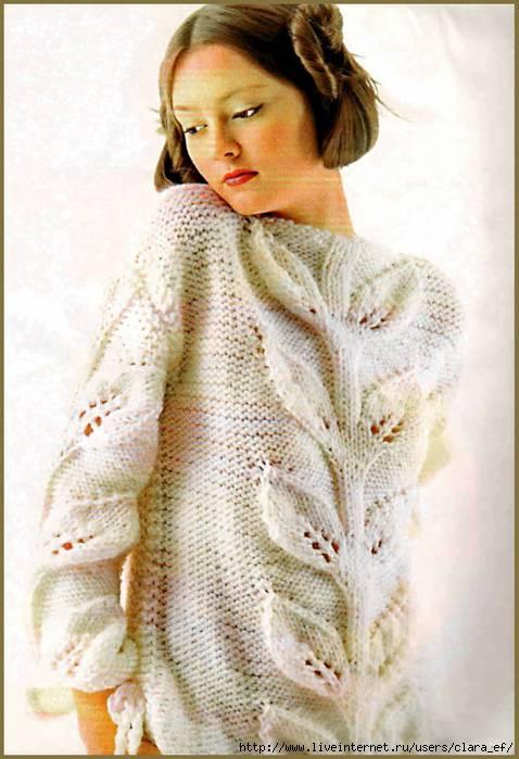 Вязаные свитера спицами со схемами 2