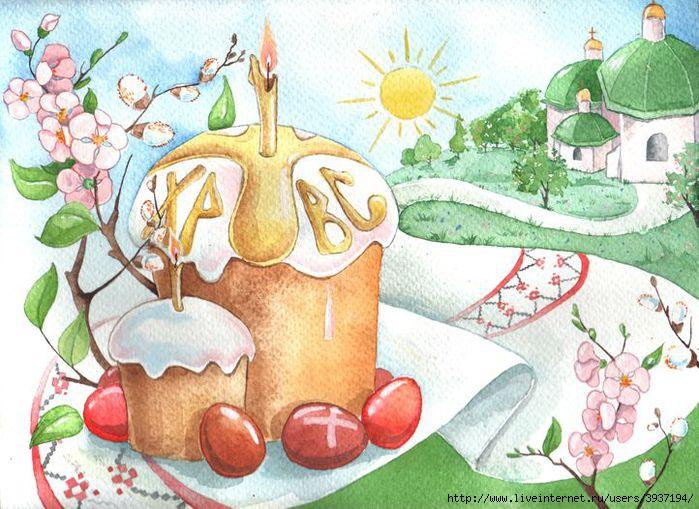 Пасхальные открытки и рисунки