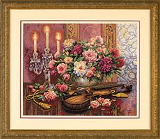 Dimensions 35185 Romantic Floral (230x200, 29Kb)